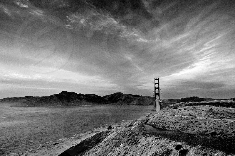 Golden Era: SF Golden Gate Bridge B&W Landscape photo