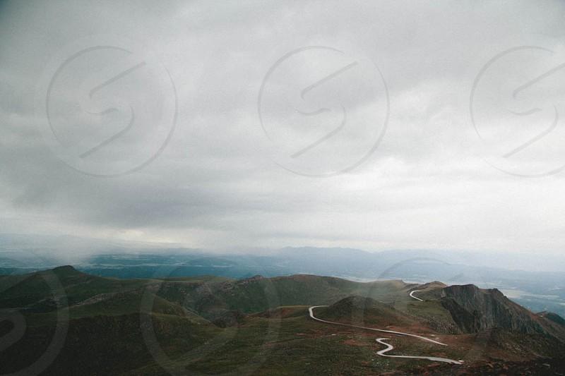 view of a mountain range photo