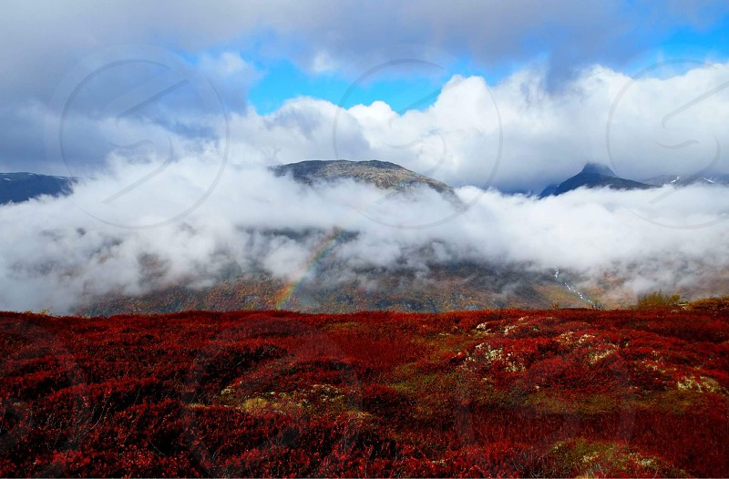 #norway #hurrungane #view #rainbow #mountains #colors #clouds #travel  photo