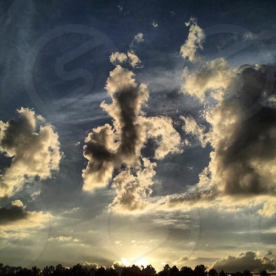 Cloudy Sky sunset photo