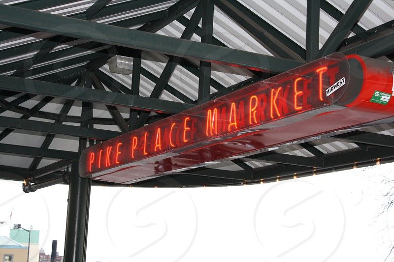 Seattle Pike Place Market Sign photo