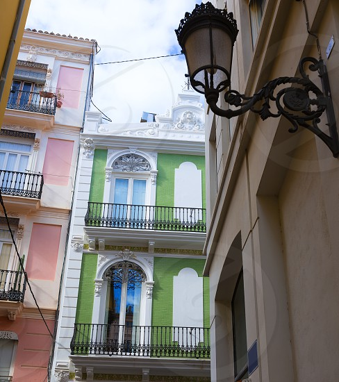Valencia Tapineria street near Plaza de la Reina at Spain photo