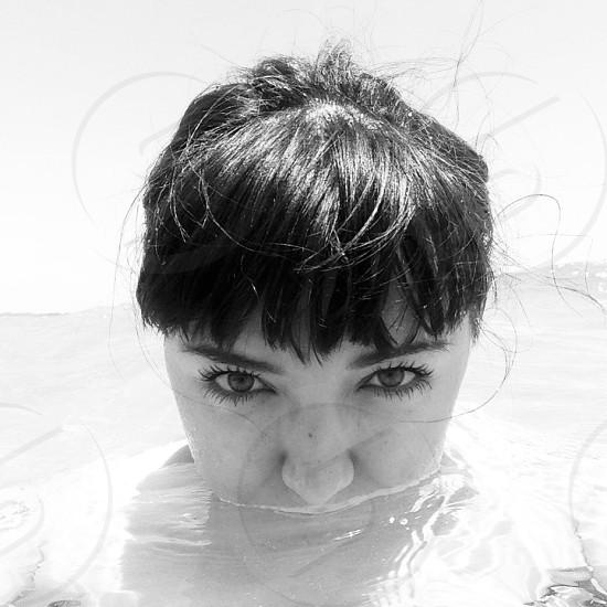 Black and white self portrait  photo