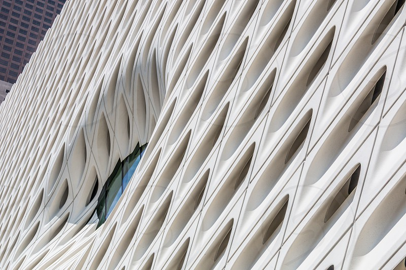 The Broad Museum in Los Angeles California.  photo
