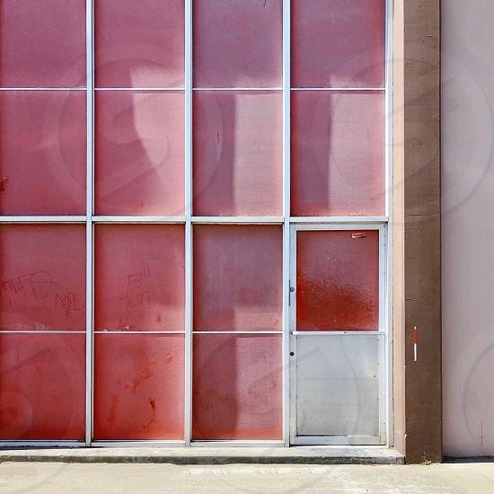 Pink wall doorwindows  photo