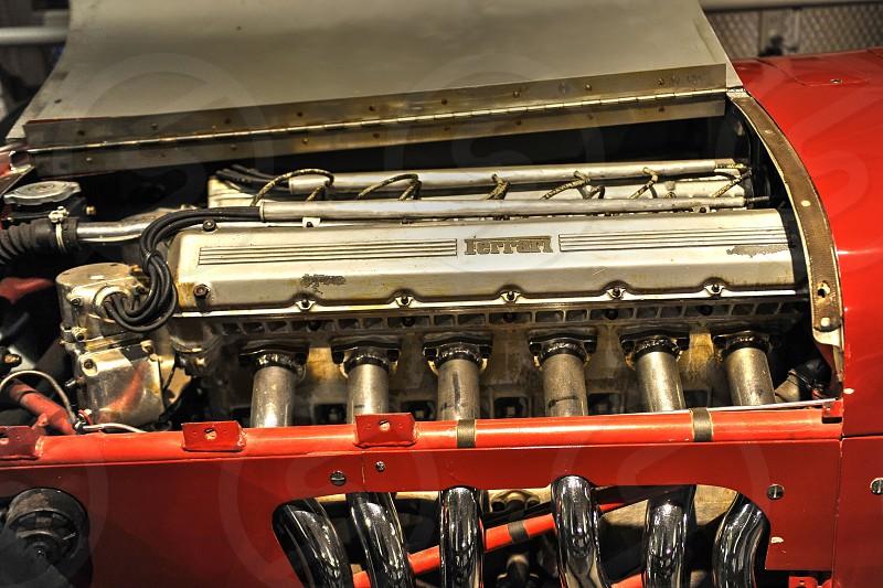 Old Ferrari Engine or Motor photo