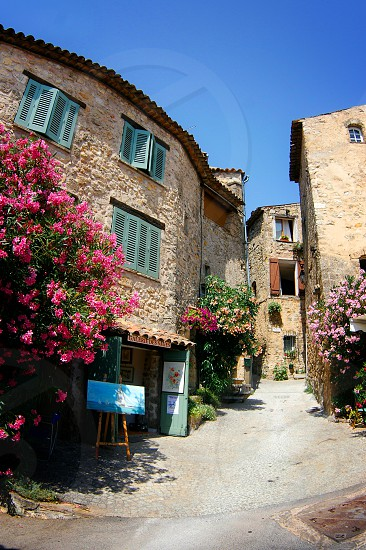 Art store in a small Provence village France. photo