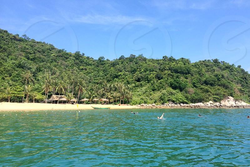vietnam beach tropical ocean jungle photo