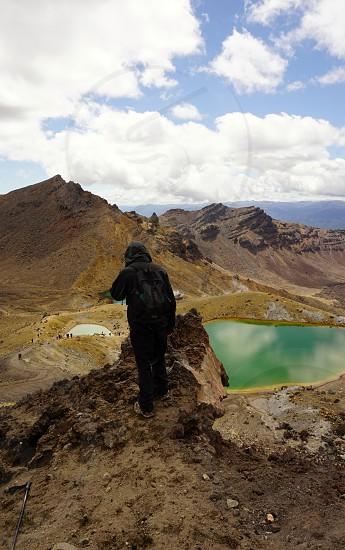 Tongariro Alpine Crossing lakes volcanoes New Zealand trekking discovery freedom photo