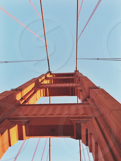 golden gate bridge tower photo