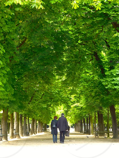 Old couple in Jardin du Luxembourg. photo