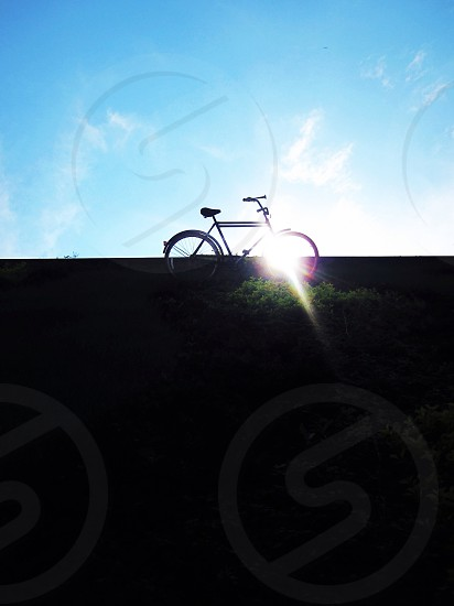 Sun and bike photo
