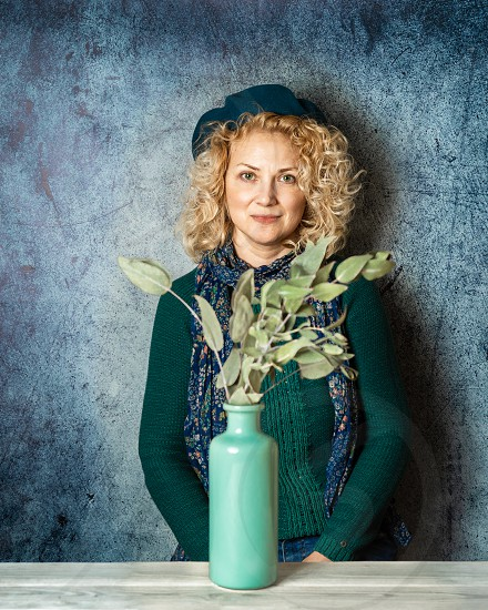 Portrait of a blond woman photo