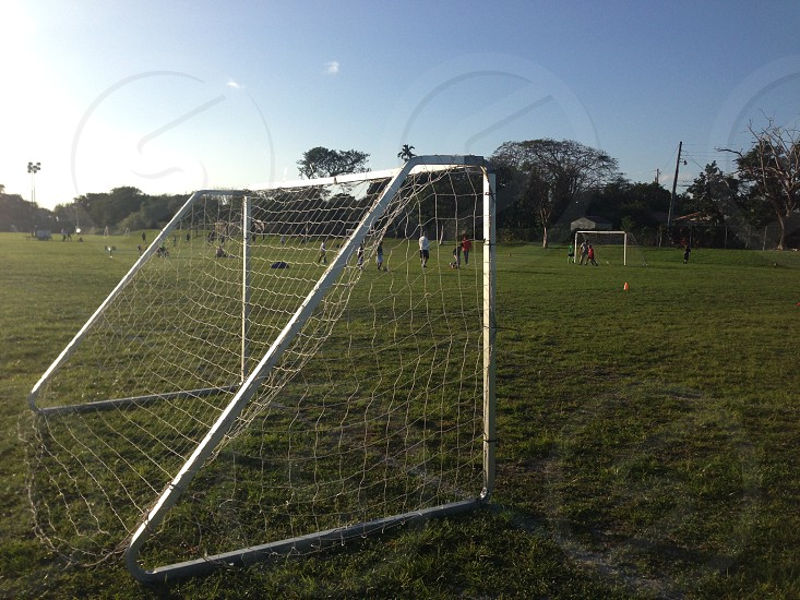 Youth soccer goal photo