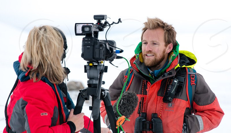 Filming in the Arctic photo