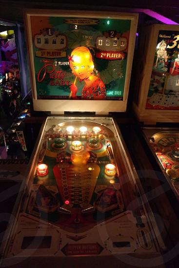 pinball machine in a hall photo