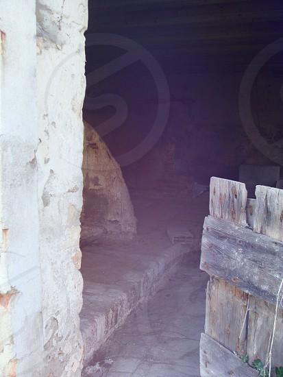 brown wooden gate photo