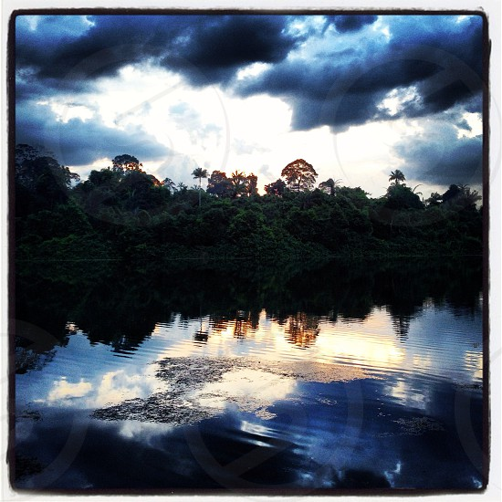 Dramatic sky scape over MacRitchie Reservoir.  photo