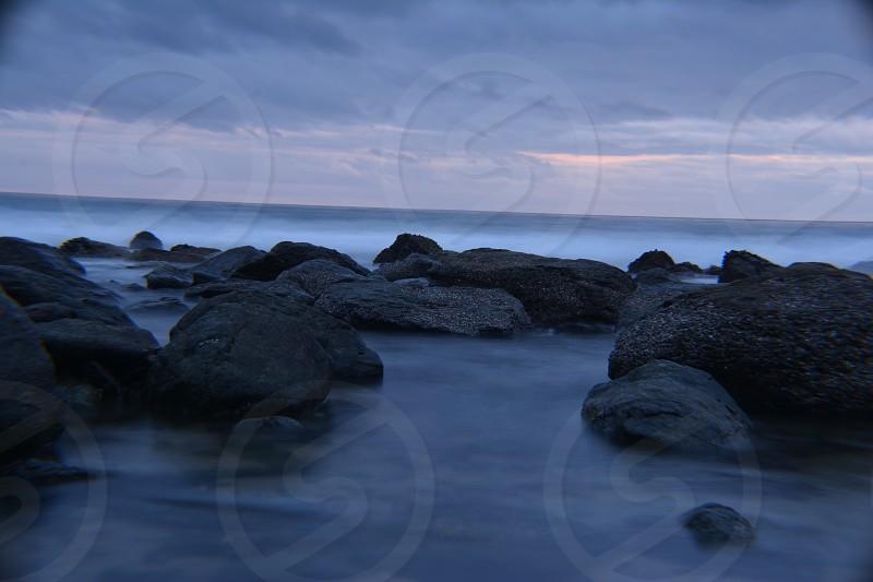 salt creek beach sunset photo