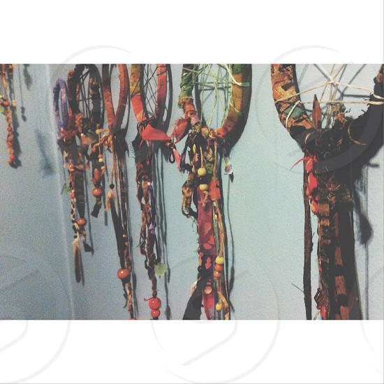 dream catchers on the wall photo