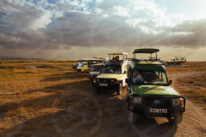 Safari vehicle van Range RoverAfrica Kenya  photo