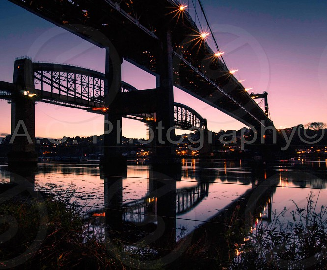 Tamar bridge water reflection  photo