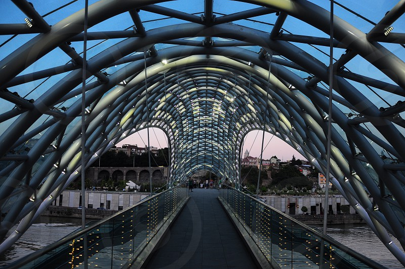 tbilisi new bridge photo
