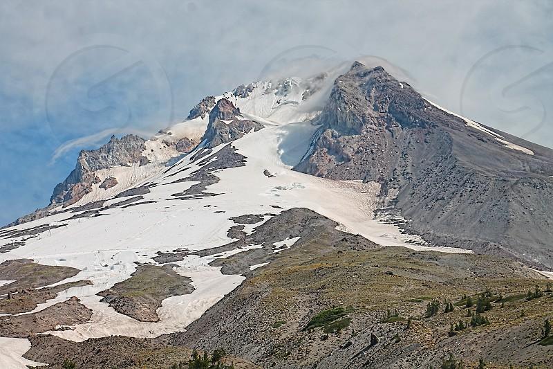 Landscape scene with Mt. Hood Oregon photo