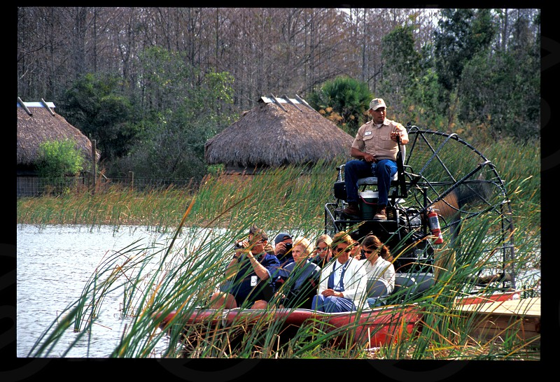 The Billie Swamp Safari Tours on the Big Cypress Seminole Reservation offers several activities to tourists visiting Florida. Native American Indian economic development brings jobs and income to the tribe. photo