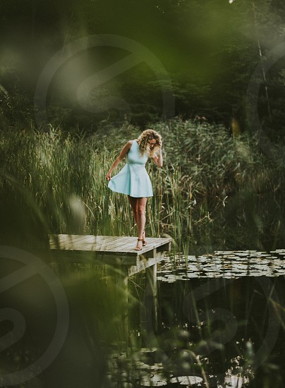Summer photoshoot at the pond photo