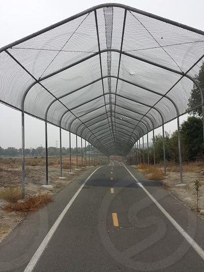 covered bike way photo