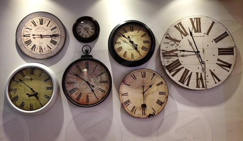 Circles clocks time photo