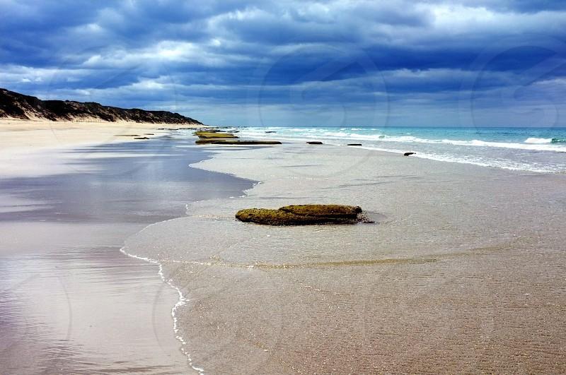 Beach Waves & Clouds photo