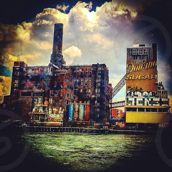 Domino Sugar Factory Brooklyn waterfront NYC photo