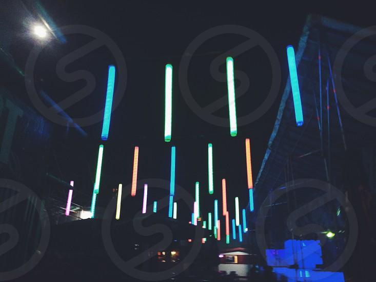 Neon string lights photo