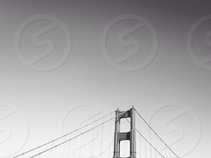 greyscale photography of bridge photo