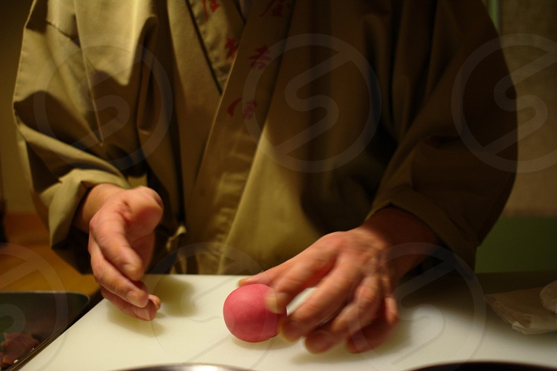 japanese sweets craftman photo