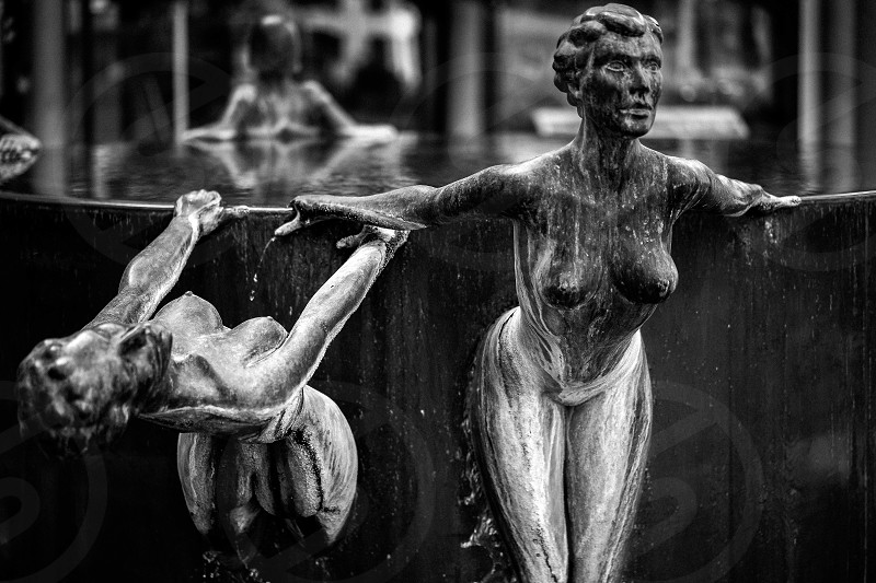 Waterfall fountain by Antony Donaldson photo