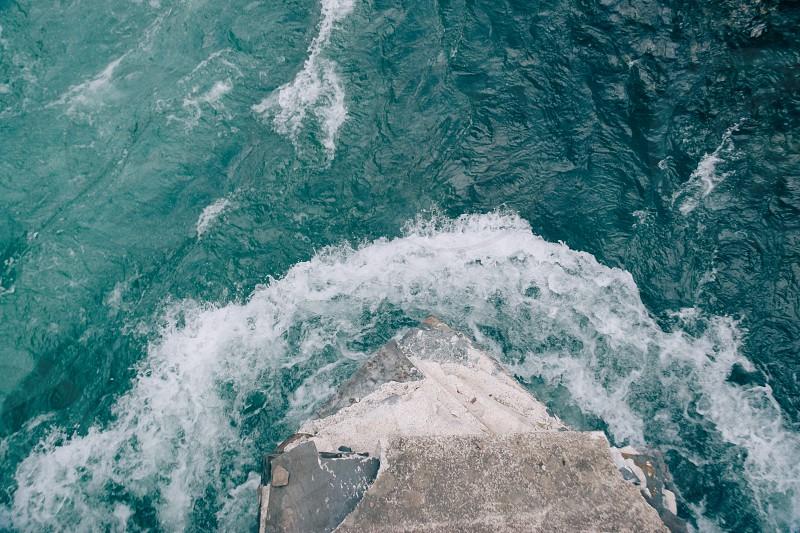 Pacific Northwest ocean water blue  photo