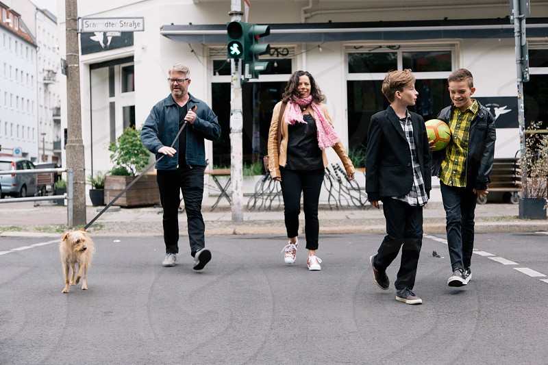 German family lifestyle shoot in Berlin for Canva. photo