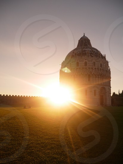 Sunset in Pisa Italy  photo
