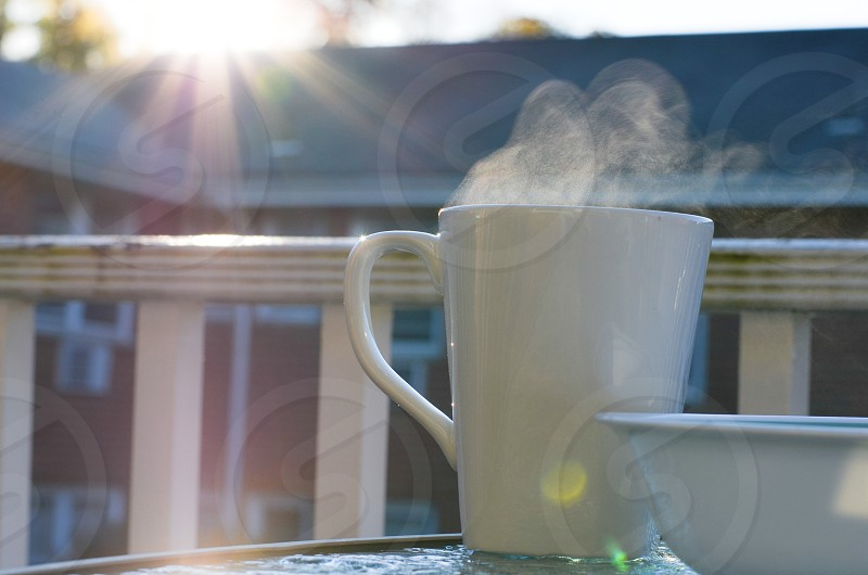 steamingly hot coffee photo