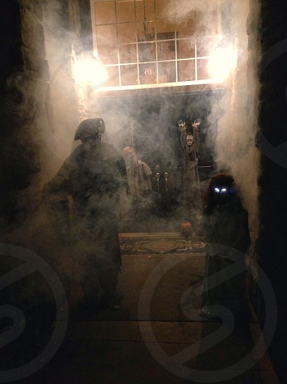 Creepy Halloween house photo
