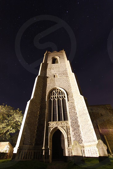 Ingham Church at midnight North Norfolk  photo
