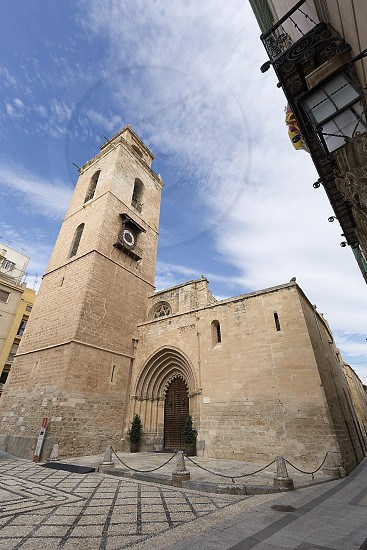 The Holy Church Cathedral of Salvador and Santa María de Orihuela or simply Orihuela Cathedral in the province of Alicante Spain. photo