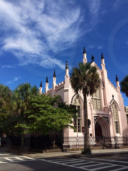 The French Huguenot Church on the corner of Church and Queen St. in Charleston SC. photo