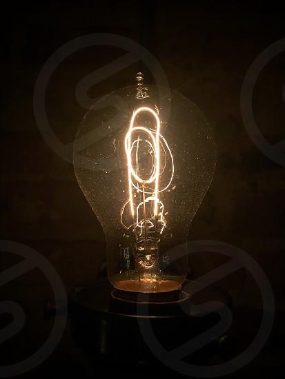 Lightbulb light bulb idea filament photo