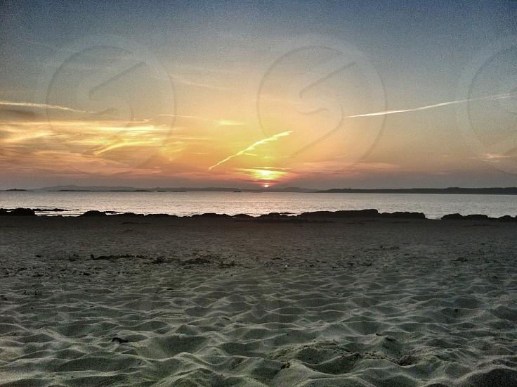 Sunset Town Beach Rhosneigr  photo