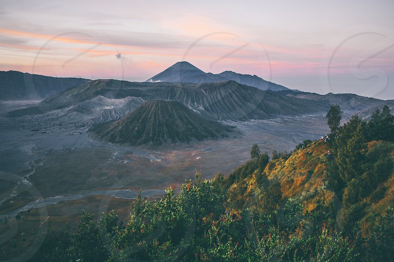 Sunrise of Mount Bromo SurabayaIndonesia. photo