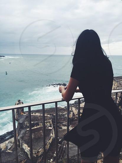 Enjoying the ocean view; national historic site old San Juan photo